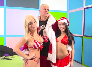 Megan Rains & Bibi Noel tag team Porno Dan