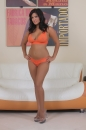 Orange Lingerie And Dildo picture 2